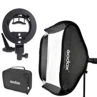 Godox S-Type Payung Softbox Flash Diffuser DSLR - Hitam - 50 X 50 CM