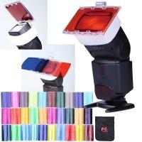 Photography Speedlite Color Filter Card 30 Color for DSLR Flash
