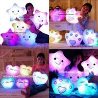 Boneka Import Mainan Bantal Bintang Lampu LED
