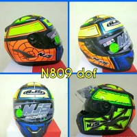 Helm NJS Shadow Flat Visor Full Face Vendetta