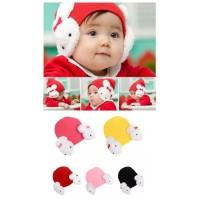 topi kupluk beanie hat rabbit bayi dan anak