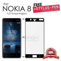 Nokia 8 Imak Full Cover Layar Penuh Tempered Glass Antigores Kaca TG