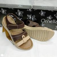 Sandal wanita Ornella kt801 coklat 36-40