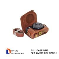 CASING KAMERA BAHAN KULIT FULL CASE GRIP FOR CANON GX7 MARK II