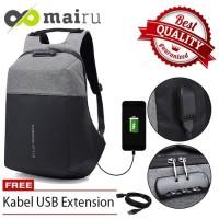 Mairu Backpack FS-V2 Tas Anti Maling - Abu Hitam