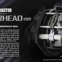 Promo Jigging Master PE3 UnderHead Left Handle Reel Pancing JM Limite