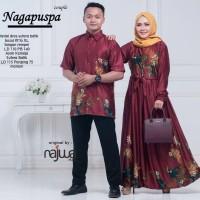 Nagapuspa gamis couple sarimbit batik muslim ori najwa