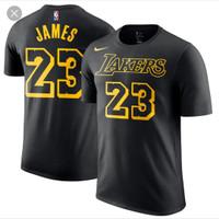 TSHIRTS KAOS BASKET NBA NIKE LOS ANGELES LAKERS LEBRON JAMES POLYFLEX