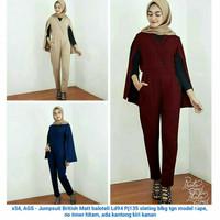 Baju Muslim Modern Jumpsuit Jamsuit Cewek Hijabers Selebgram Keren