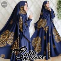Baju Maxi MAWAR bahan maxmara gamis syari busana muslim   KHIMAR SATIN