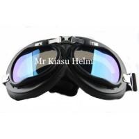 goggle kaca mata helm cakil HBC Pilot Retro Classic kacamata SNAIL