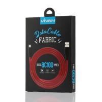 VIVAN Kabel Data Charger BC100 Fast Chargring 3A Panjang 1M ORIGINAL