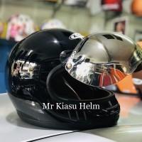 helm cakil zeus 816 816C black hitam helm jadul retro klasik harley