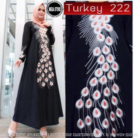 TERLARIS! 🌸TURKEY 222 DRESS🌸 Gamis pesta wanita premium modern