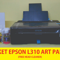 Printer Epson L310 Paket Tinta Art Paper 60ml Free Head Cleaner