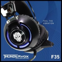 Rexus F35 E-Sport Vibration + Led Light - Gaming Headset