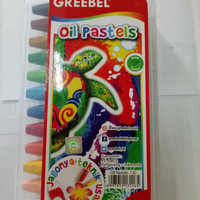 crayon / oil pastels greebel 12 colours