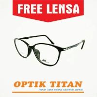 Harga frame kacamata minus baca pria wanita hm 0905 hitam doff | Pembandingharga.com