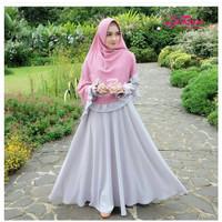 Harga gamis syari terbaru la rose syari khimar ped fashion | Pembandingharga.com