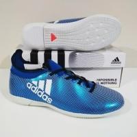 SEPATU FUTSAL Adidas X 18 Techfit IC MURAH BERKUALITAS (Blue White) f29b46cfda