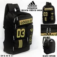 Harga promo tas sekolah pria tas ransel adidas stripes tosca gym sekolah | Pembandingharga.com