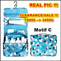 Korea travel hanging Tas penyimpanan kosmetik organizer pouch - HPR065