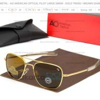 SALE Sunglass Metal - AO American Optical Pilot Large 57 mm - Glass