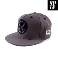 Snapback Flexfit Yupoong Premium Topi Hip Hop Abu HRCN AL90