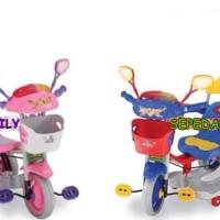 Mainan Sepeda FamiLy Anak Bayi Batita Roda Tiga 3 Hadiah ulang tahun