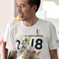 Jual Kaos baju asian games 2018 jakarta jokowi Murah