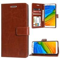 Casing hp Xiaomi redmi 5 plus 5,9 flip wallet leather soft case elegan