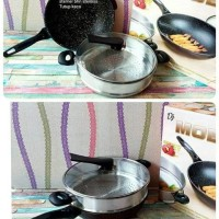 Wok Steamer / Wajan Anti Gores Moegen + Steamer
