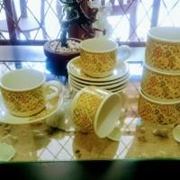 Cangkir Kopi & Teh/Tea & Coffee Cup Set Motif Batik Vanisa (SNI)