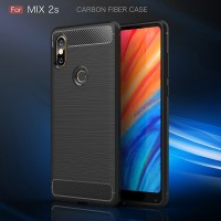 Case Xiaomi Mi Mix 2 - MiMix 2s casing hp cover tpu carbon FIBER LINE