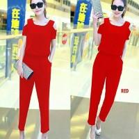 b8b6bd96783 dress jumpsuit wanita overall jamsuit korea code maxy pants maxi merah
