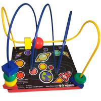 Mainan Anak Kayu Edukasi / Edukatif - Alur Kawat 2 Line Karakter Space