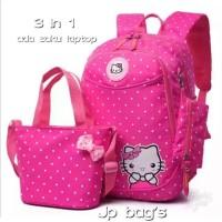 Harga grosir tas ransel anak sekolah sd perempuan hello kitty 3in1 murah | Pembandingharga.com