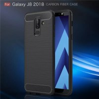 Samsung Galaxy J8 2018 Softcase Carbon Texture Case Not Hardcase