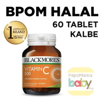 Jual Blackmores Vitamin C Vit C 500 mg 500mg 60 Kapsul BPOM KALBE HALAL Murah