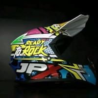 helm cross JPX Ready to rock Diskon