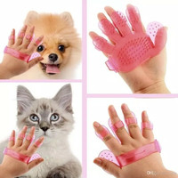 Sisir anjing kucing sikat mandi dog cat grooming brush silikon