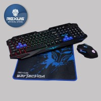 Rexus Keyboard Mouse Warfaction VR1 Combo