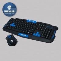 Rexus Keyboard Mouse Wireless Gaming Warfaction VR2 Combo