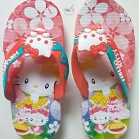Sandal Karet Anak Wanita Cewek Sendal Jepit Perempuan Hello Kitty