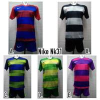 Jersey Kaos Setelan Baju Bola / Futsal Nike NK31 Polos