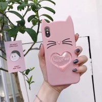 iPhone 7 Plus / 8+ Lucky Cat Water Glitter Silicone Back Cover Case