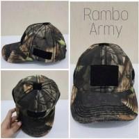 Best Topi RAMBO ARMY polisi tentara dots loreng