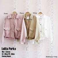 Lolita parka/outwear murah/jaket terlaris/hijab/remaja/baju wanita