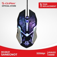 CLIPtec RGS621 Sanegnot | Mouse Gaming Murah Promo LED 3250DPI