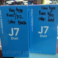 HP SAMSUNG GALAXY J7 DUO -Ram 3/32GB- Garansi (SEIN) 1Thn -BLACK&GOLD-
